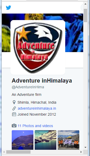 adventure in himalaya twitter